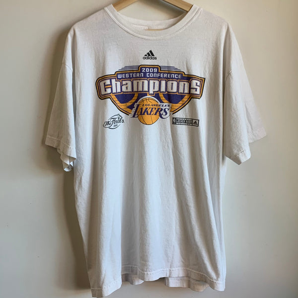 Adidas 2009 Los Angeles Lakers Western Conference Champions White Shirt