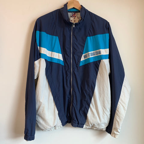 Nike International Blue & White Windbreaker Jacket