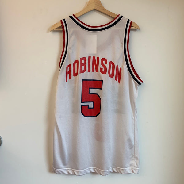 1992 Champion David Robinson White USA Basketball Jersey