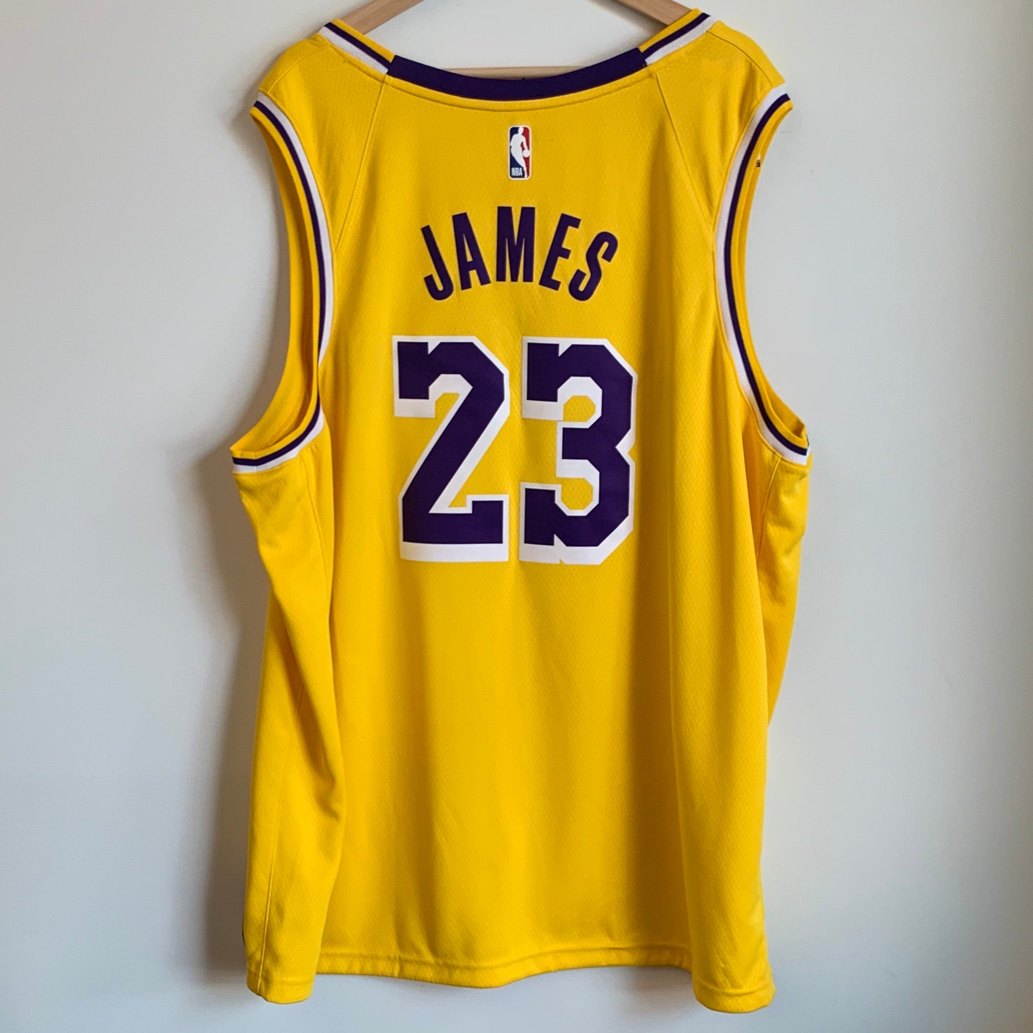 quality design ae6a5 3bdc5 Nike LeBron James Los Angeles Lakers Yellow Swingman Basketball Jersey