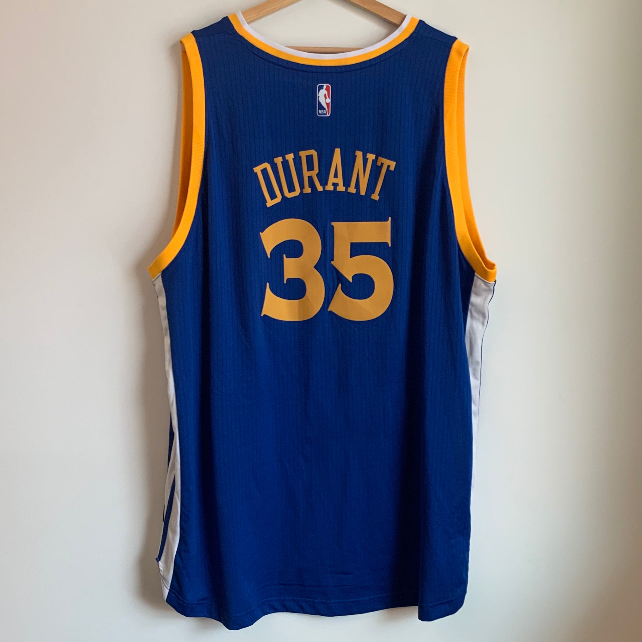 on sale ce0d2 5efc9 Adidas Kevin Durant Golden State Warriors Blue Basketball ...