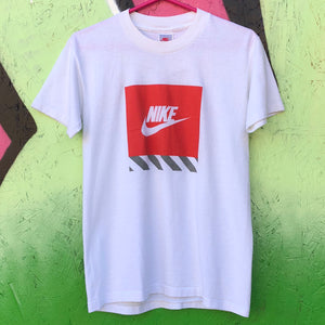 Nike Gray Tag Box Logo Tee