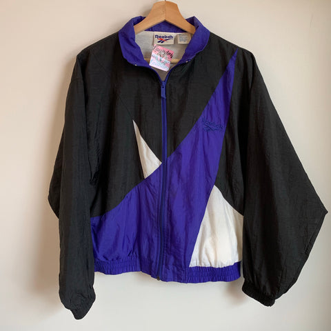 Reebok Blue/Black/White Windbreaker Track Jacket