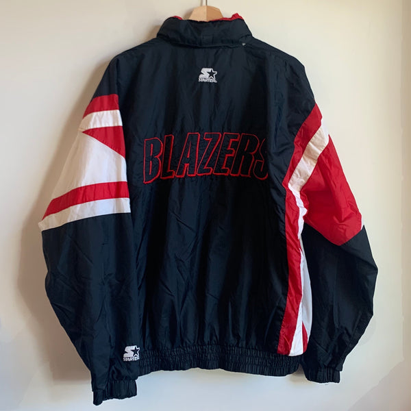 Starter Portland Trail Blazers Black/White/Red Windbreaker