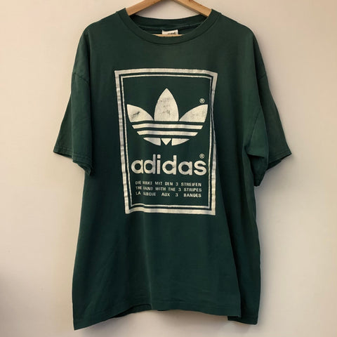 adidas Double-Sided Trefoil Logo Tee Shirt
