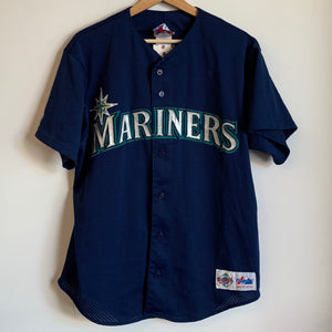 Majestic Seattle Mariners Navy Baseball Jersey