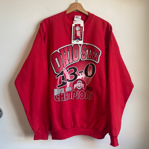 Ohio State Big State Champions Red/White/Black Crewneck Sweatshirt