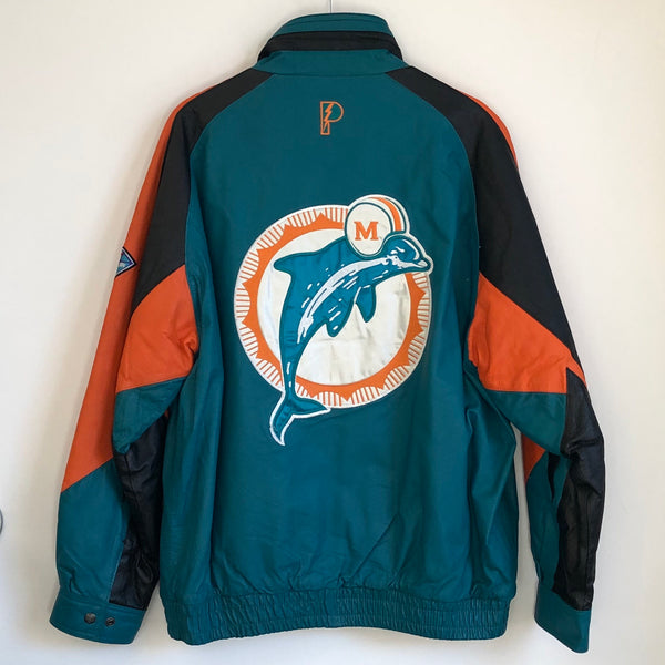 Pro Player Miami Dolphins Leather Jacket