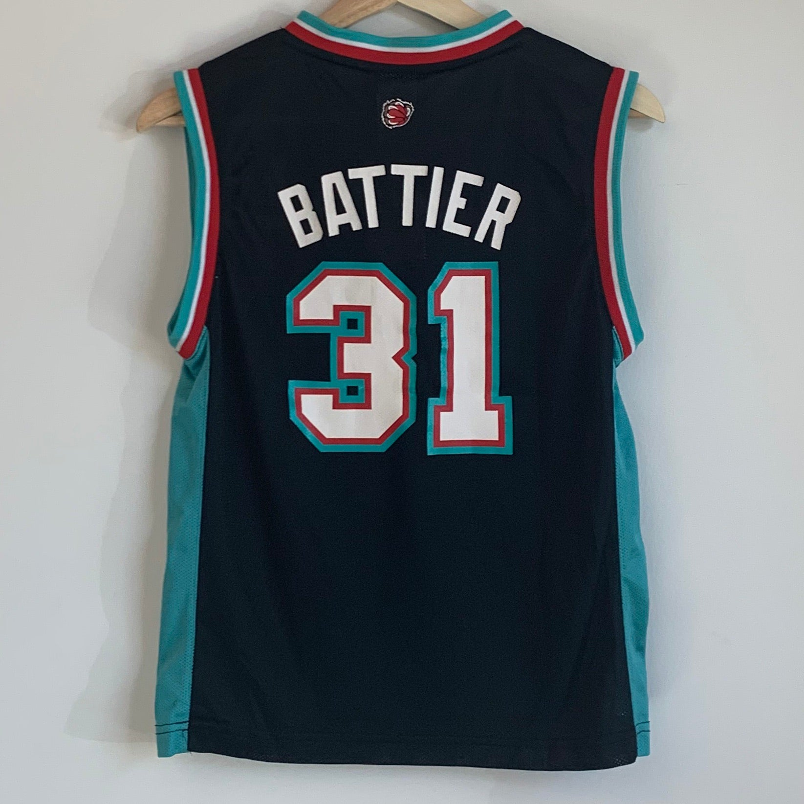Reebok Shane Battier Memphis Grizzlies Black Youth Basketball Jersey