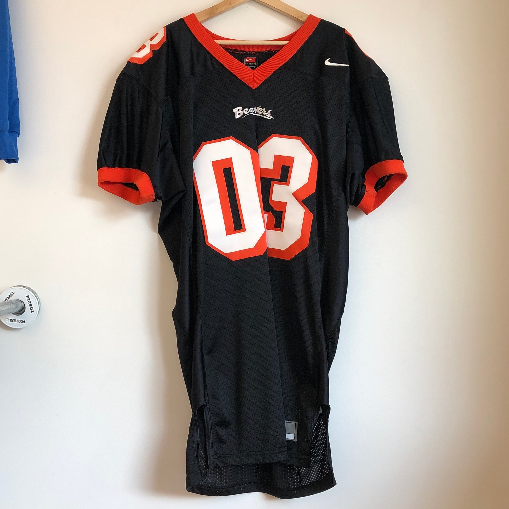 Nike Oregon State OSU Beavers Game Worn Football Jersey