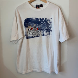 1996 USA Olympics Embroidered Bugs Bunny Taz White Tee Shirt