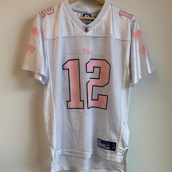 Reebok Tom Brady New England Patriots Pink Youth Football Jersey