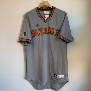 Adidas Miami Hurricanes Team-Issued Baseball Jersey