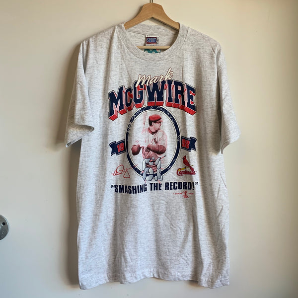 Mark McGwire St. Louis Cardinals Gray Tee Shirt