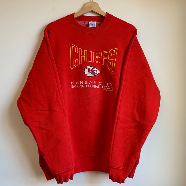 Salem Sportswear Kansas City Chiefs Red Crewneck Sweatshirt