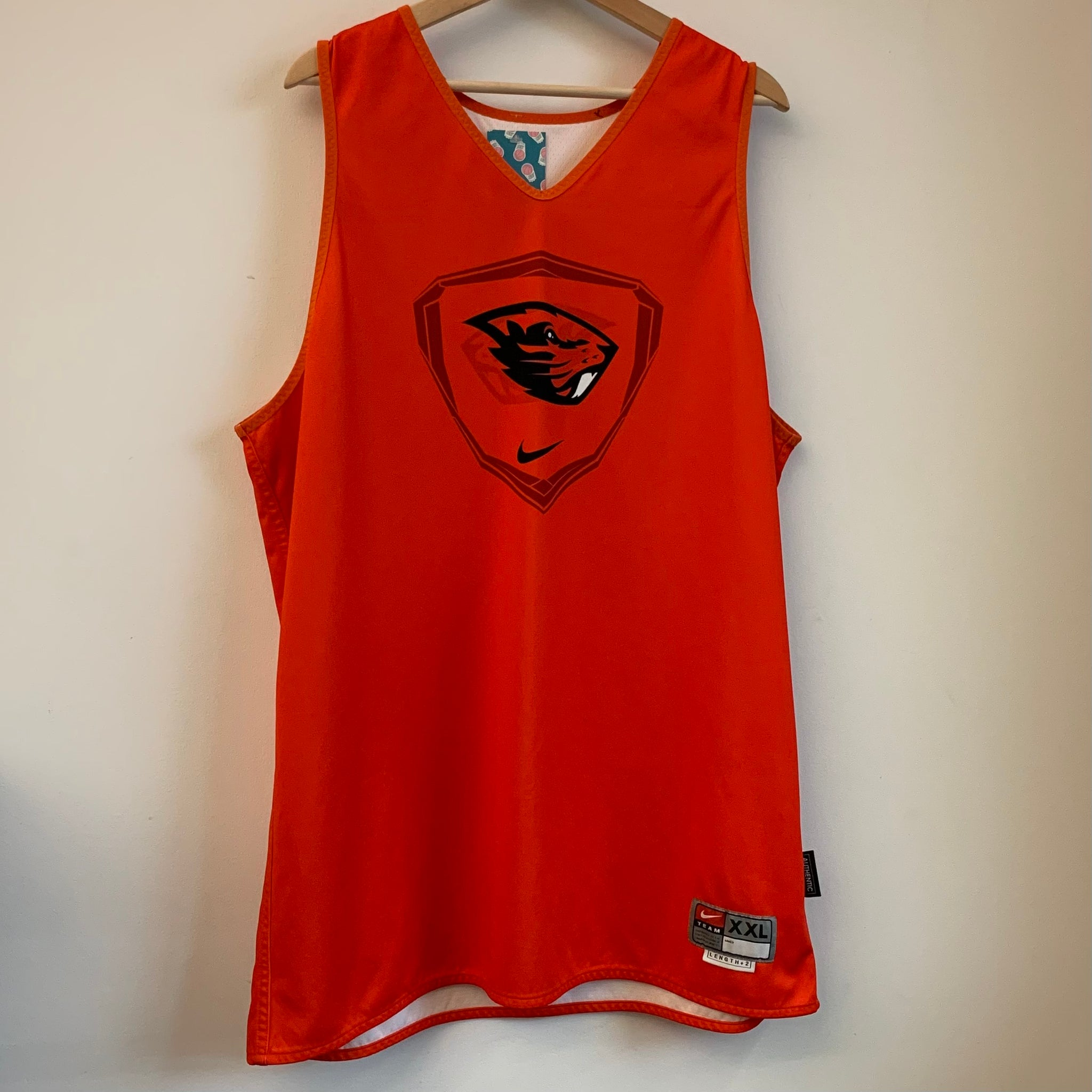 Nike Oregon State OSU Beavers Team-Issued Reversible Basketball Jersey