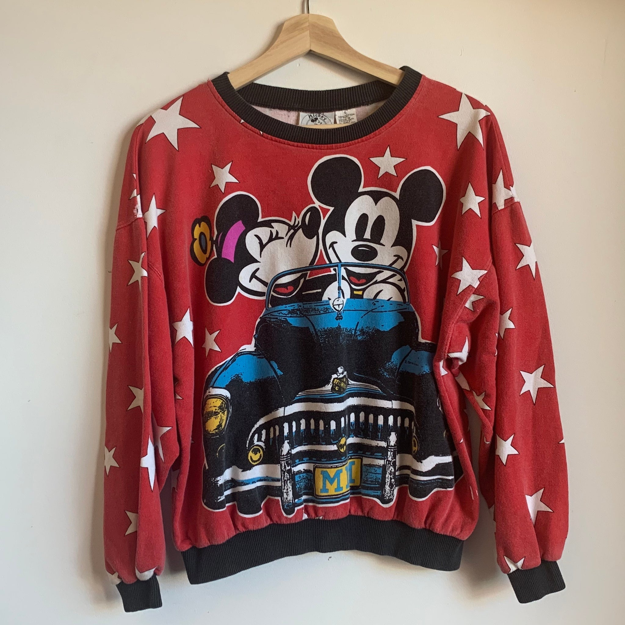 Mickey & Minnie Mouse All-Over-Print Crewneck Sweatshirt