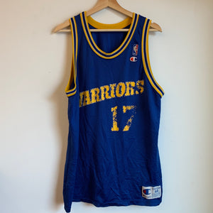 Champion Chris Mullin Golden State Warriors Blue Basketball Jersey