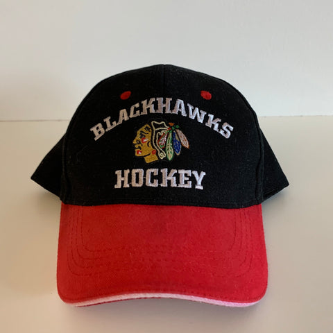 Chicago Blackhawks Black/White/Red Strapback