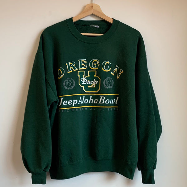 1998 Oregon Ducks Aloha Bowl Green Crewneck Sweatshirt