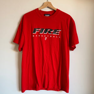 Portland Fire Basketball Red Tee Shirt