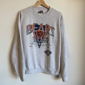 1994 Trench Chicago Bears Gray Crewneck Sweatshirt
