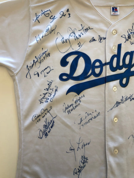 Russell Athletic Los Angeles Dodgers World Series Autographed Baseball Jersey