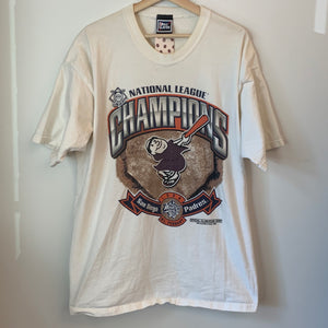 Pro Player San Diego Padres 1998 National League Champions White Tee Shirt