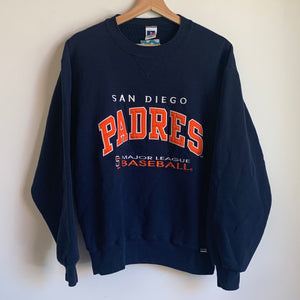 Russell Athletic San Diego Padres Navy Crewneck Sweatshirt