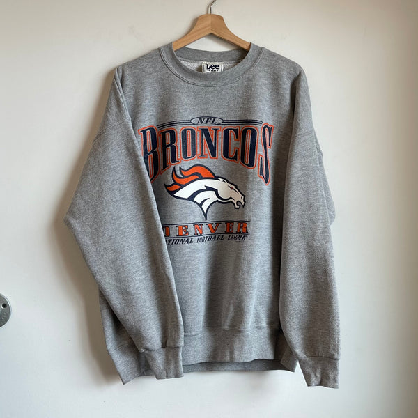 Lee Sport Denver Broncos Gray Crewneck Sweatshirt