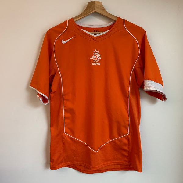 Nike Total 90 Holland Netherlands 2004/06 Orange Home Soccer Jersey