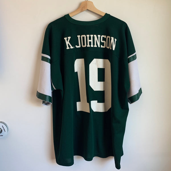 Logo 7 Keyshawn Johnson New York Jets Football Jersey
