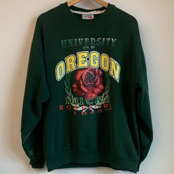 1995 Morning Sun Oregon Ducks Rose Bowl Crewneck Sweatshirt