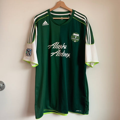 Adidas Portland Timbers Green/White Soccer Jersey