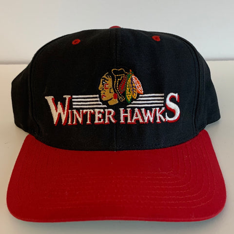 Portland Winterhawks Black & Red Snapback
