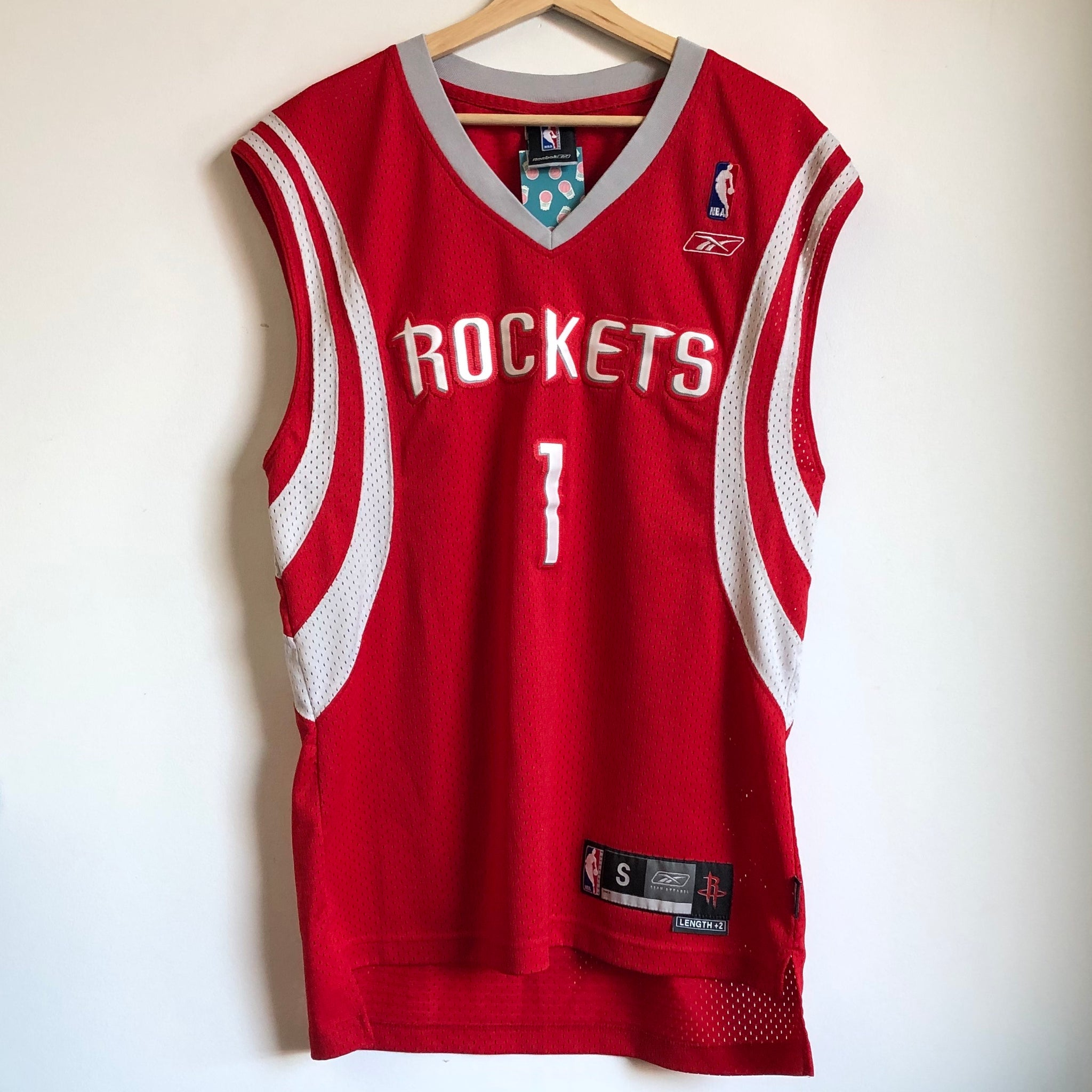 Reebok Tracy McGrady Houston Rockets Red Swingman Basketball Jersey