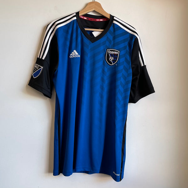 Adidas San Jose Earthquakes Blue/Black/White Soccer Jersey