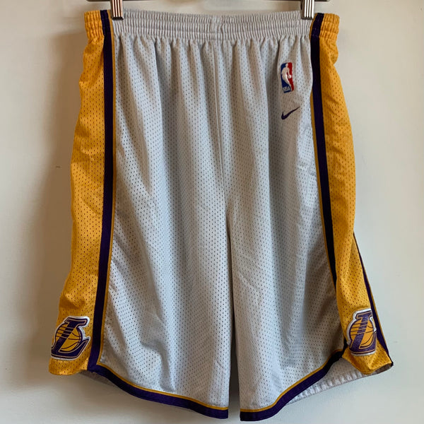 Nike Los Angeles Lakers White Basketball Shorts