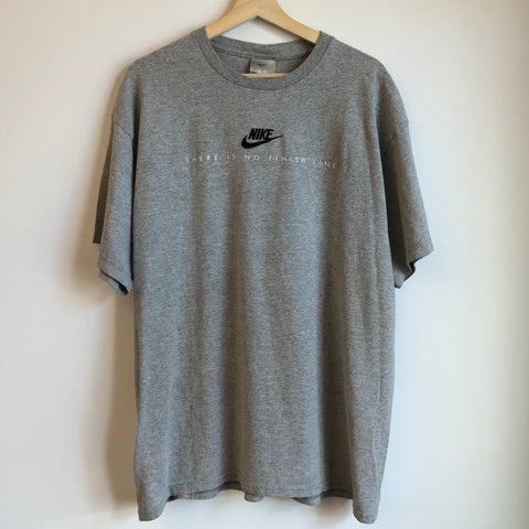 Nike There Is No Finish Line Embroidered Gray Tee Shirt