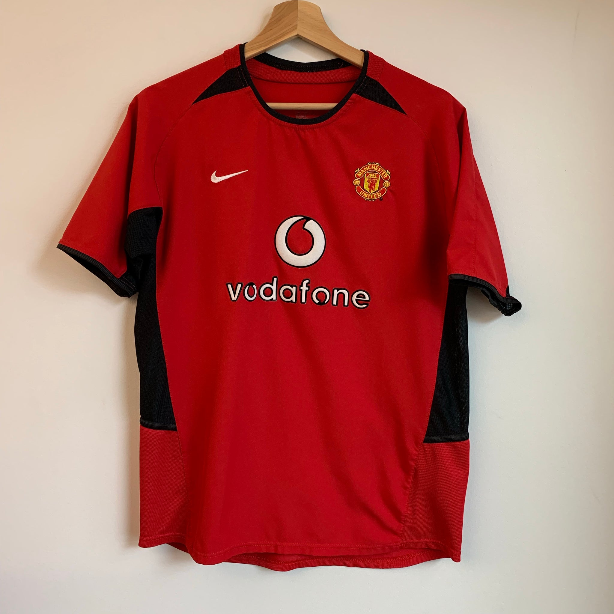 Nike Manchester United Red Devils 2002/04 Youth Home Soccer Jersey