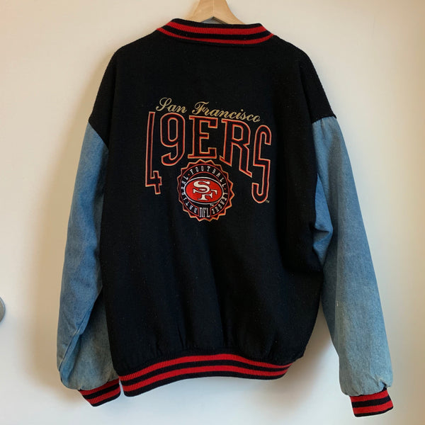 Logo Athletic San Francisco 49ers Wool & Denim Varsity Jacket