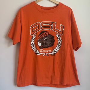 1988 Oregon State OSU Beavers Orange Tee Shirt