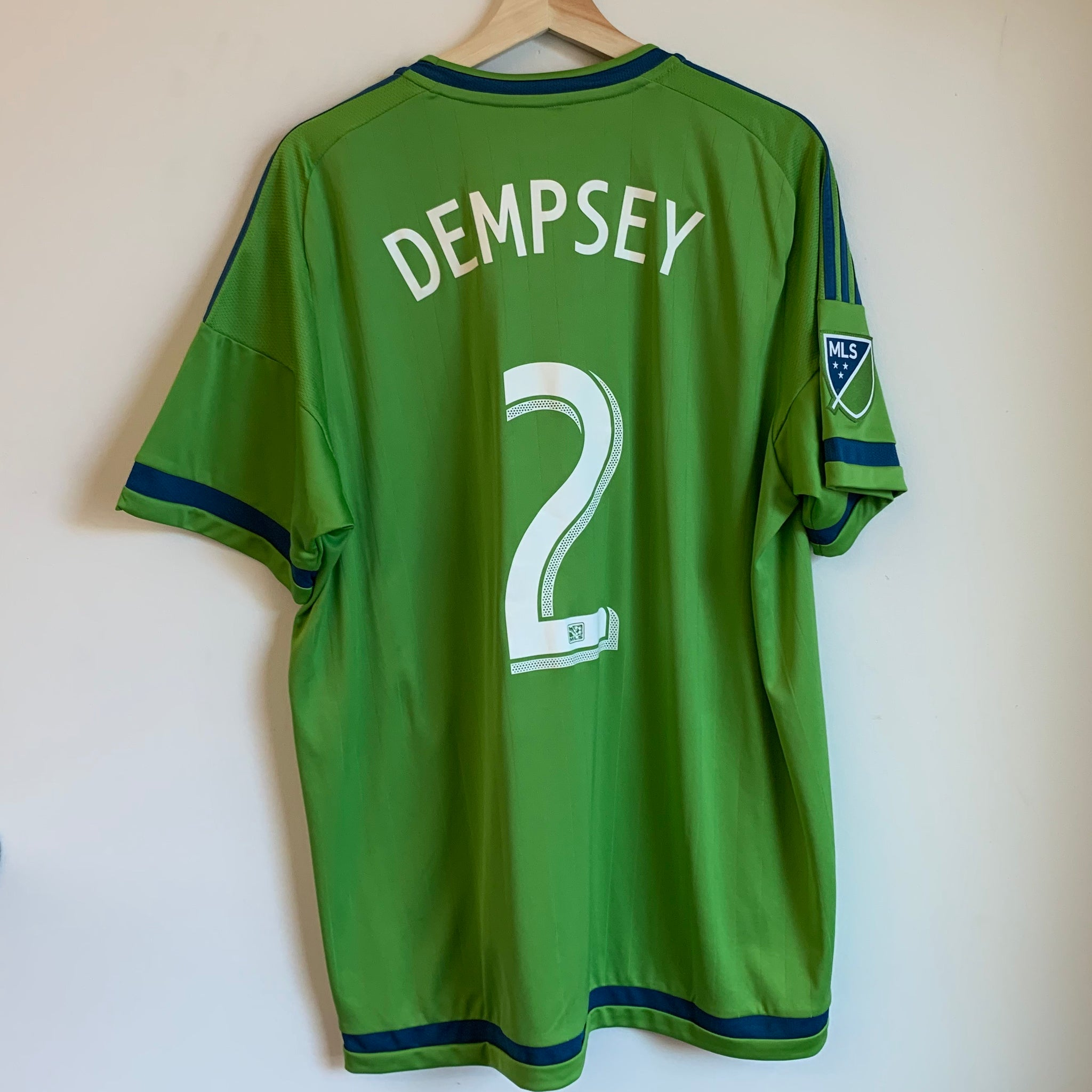 Adidas Clint Dempsey Seattle Sounders Green Soccer Jersey