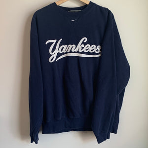 Nike New York Yankees Navy Crewneck Sweatshirt