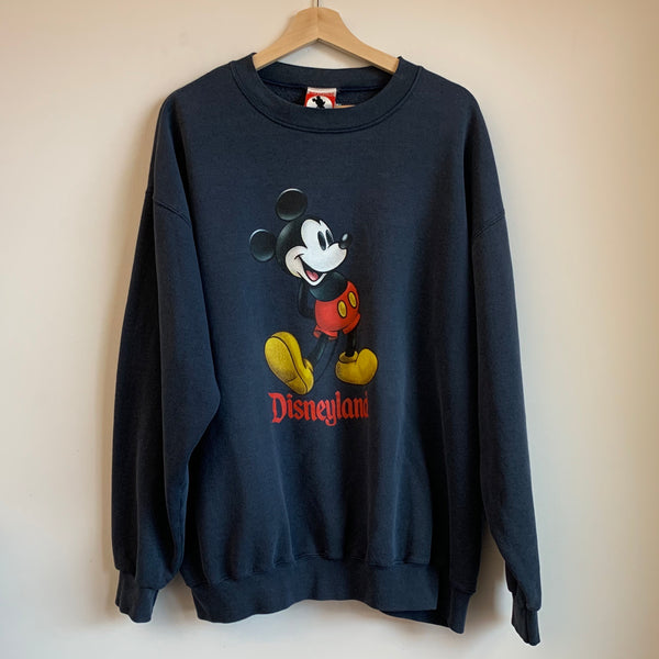 Disneyland Mickey Mouse Navy Crewneck Sweatshirt