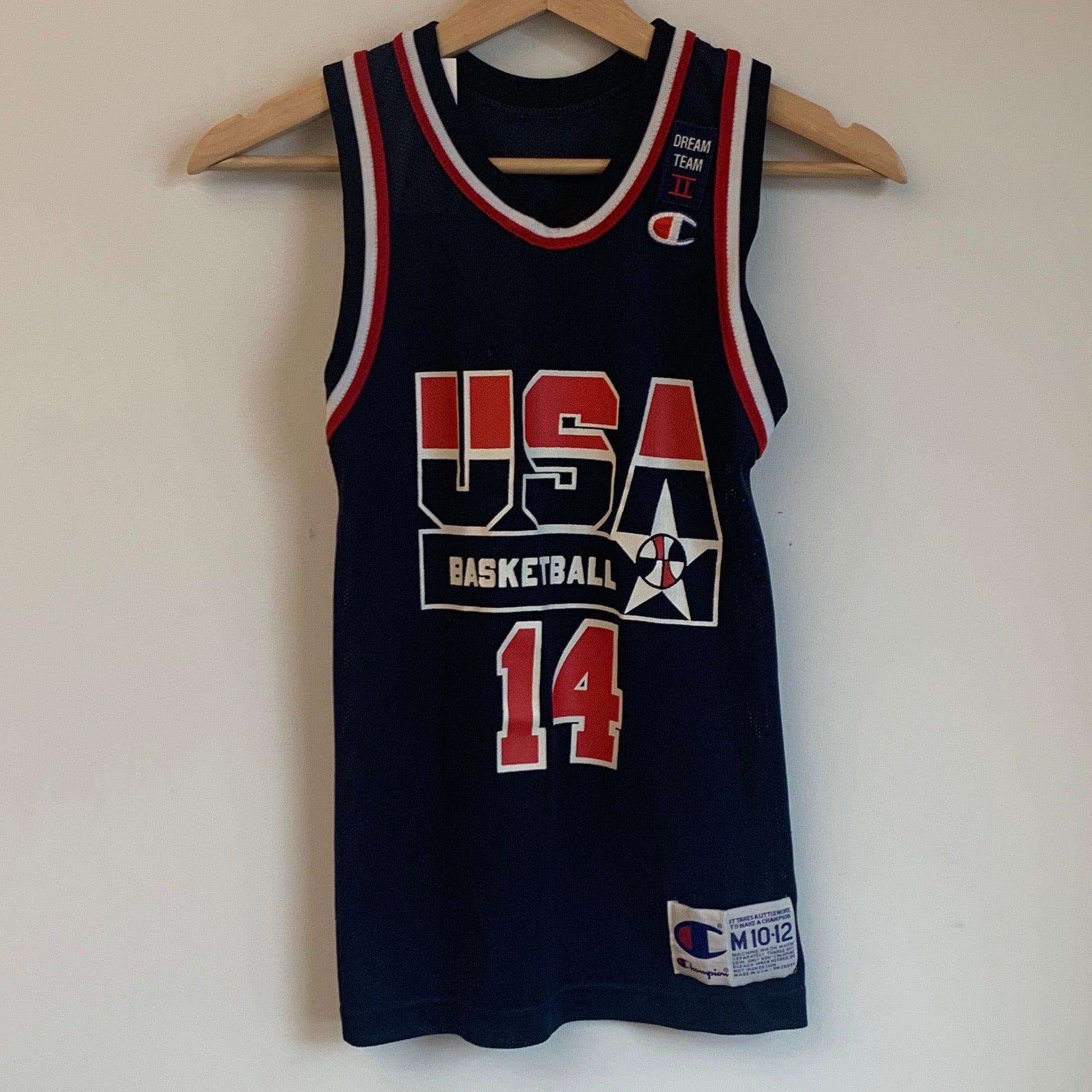 Champion Alonzo Mourning USA Dream Team Navy Youth Basketball Jersey