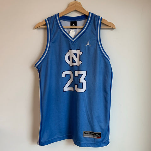 Michael Jordan North Carolina UNC Tar Heels Blue Youth Basketball Jersey