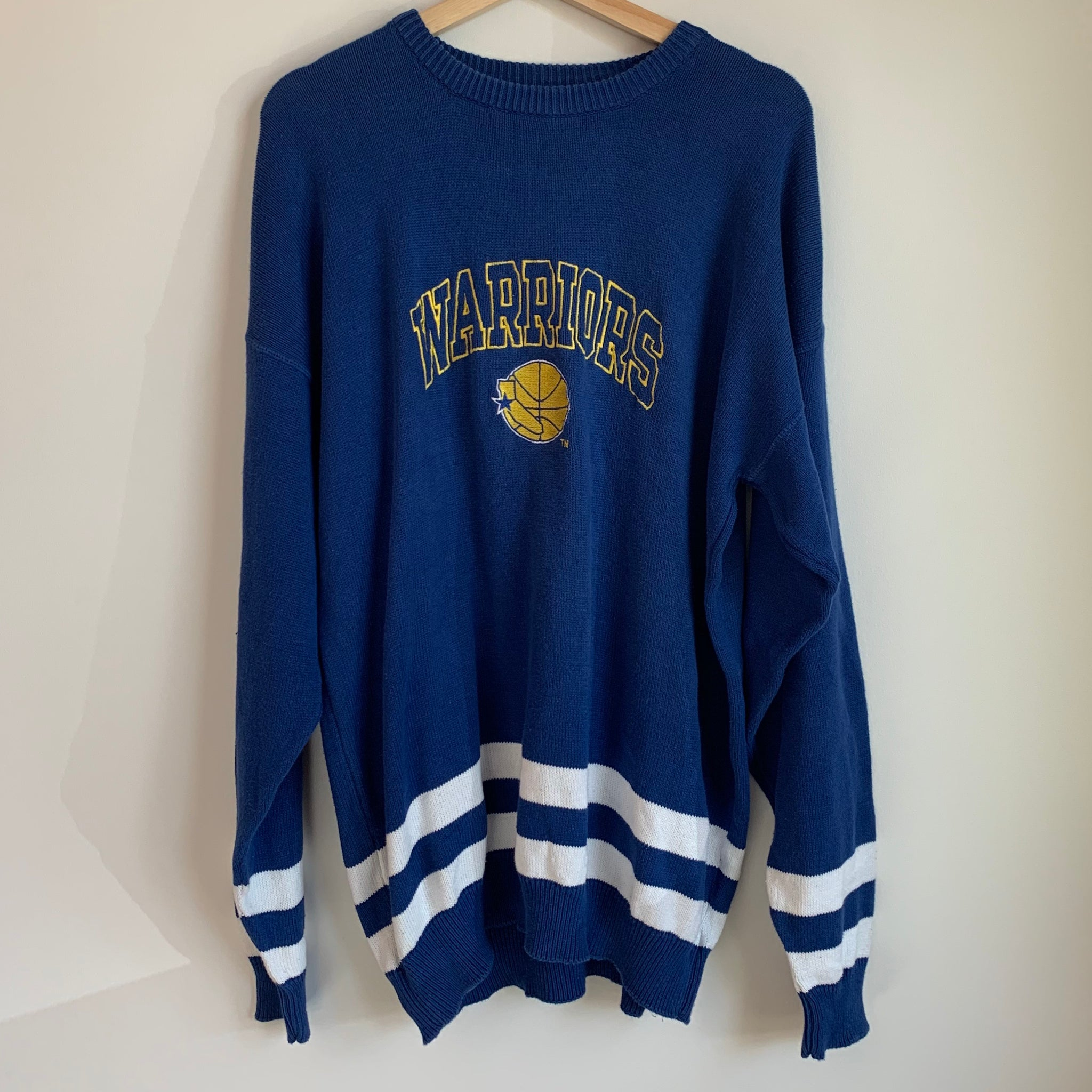 Logo 7 Golden State Warriors Blue Knit Sweater