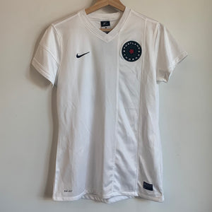 Nike Portland Thorns Practice-Worn White Soccer Jersey