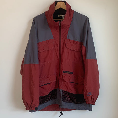 Nike ACG Maroon/Gray Windbreaker Jacket